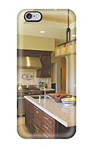 Awesome Design Warm Transitional Kitchen With Island And Tray Ceiling Hard Case Cover For Iphone 6 Plus