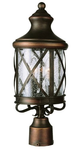 Trans Globe Lighting 5123 ROB 3-Light Post Lantern, Rubbed Oil (High Post Mount Lantern)