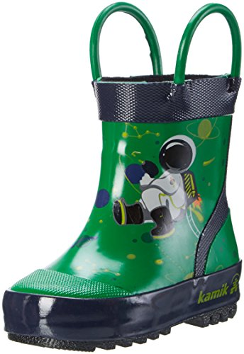 Kamik Green (Kamik Boys' Orbit Rain Boot, Green, 10 M US Toddler)