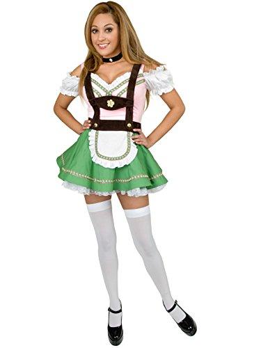 Gretchen Costume Halloween (Leg Avenue Women's 2 Piece Gretchen Costume, Brown/Green,)