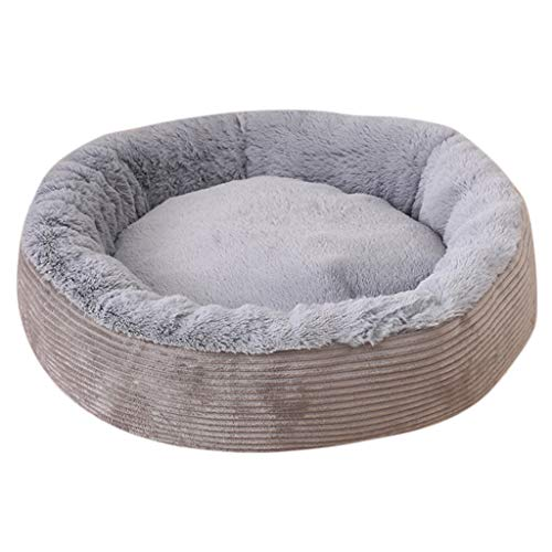 Pet Dog Sofa Bed | Inkach Small Dogs Cats Round Comfy Bed Soft Cushion Sleeping Mat Pad Removable Cover Cuddle Nest (S, Gray) (Pets Cushion Cuddle)