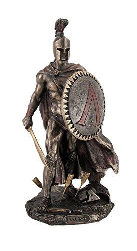 9.75 Leonidas Greek Warrior King Statue Sculpture Figurine Spartan Decor