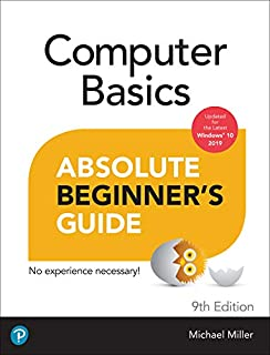 Book Cover: Computer Basics Absolute Beginner's Guide, Windows 10 Edition