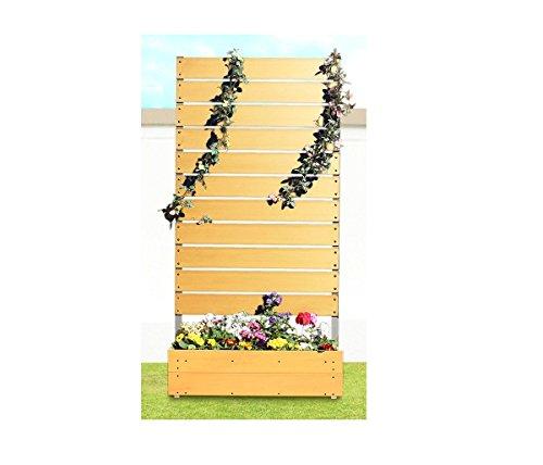 プランタボックス付コンフォートフェンス 幅90センチx高さ180センチ 板間隔1センチ カントリーパイン B006KYCJH2 25481
