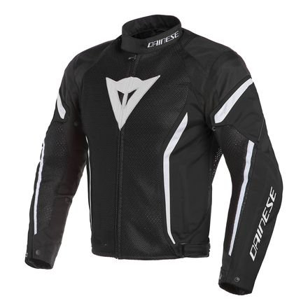 (Dainese Air Crono 2 Textile Jacket (BLACK/BLACK/WHITE))