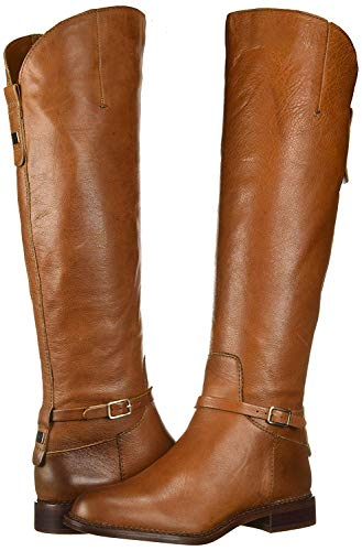 Franco Sarto Women's Haylie Knee High Boot, Cognac Leather, 6.5 M US
