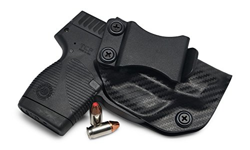 Concealment Express IWB KYDEX Holster: fits Taurus 738 TCP - Custom Fit - US Made - Inside Waistband - Adj. Cant/Retention (CF BLK, Right)
