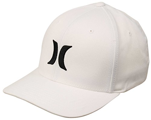 Hurley 892030 Men's One and Only Hat, White/(Black) - L/XL (Embroidered Hat Hurley)