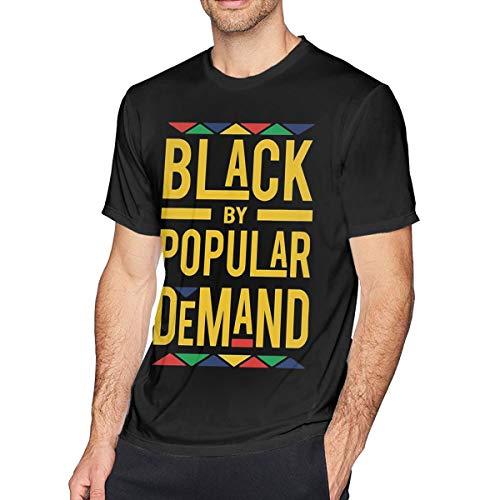 - Kangtians Men's Black by Popular Demand Shirt Cotton Tee