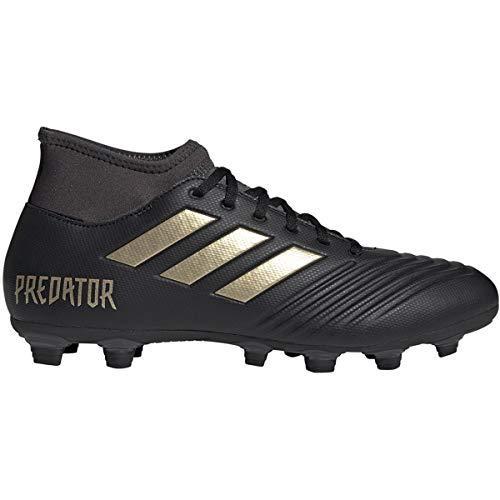 adidas Men's Predator 19.4 S Firm Ground Soccer Shoe, Gold Metallic/Utility Black, 9 M US