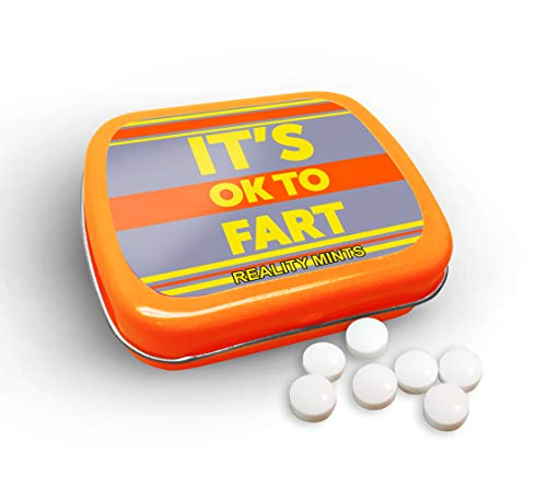 It's OK to Fart Mints - Wintergreen Breath Mints - Novelty Candy Gift for Men - Hinged Collectible Tin of Sugar-Free Candy ()