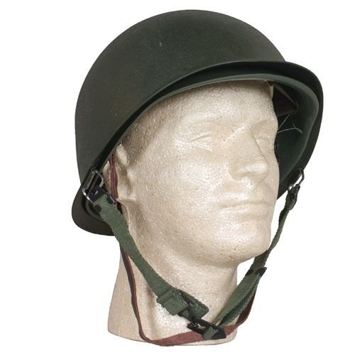 Fox Outdoor Products Deluxe M1 Style Steel Combat Helmet/Liner, One Size (Airsoft Gear Ww2)