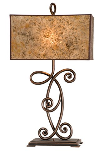 (Table Lamps 2 Light Bulb Fixture with Antique Copper Tone Finish Medium 18 inch)