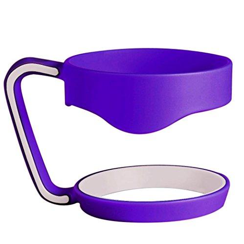 Mug Handle, PHOTNO Handle For YETI Rambler 30 oz Tumblers Slip Handle Yeti Cup (Purple)