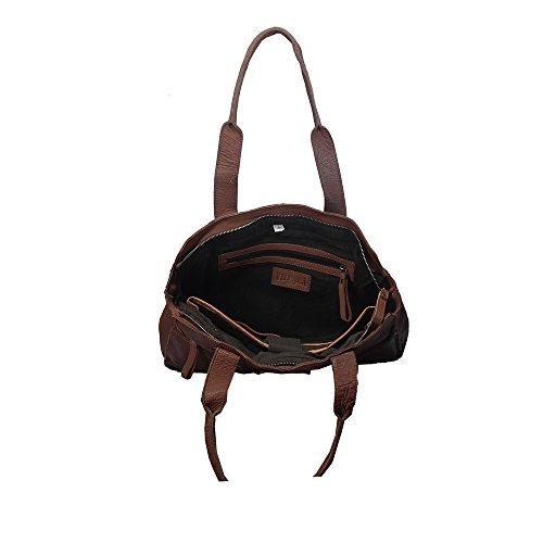 """Vilenca """"40711 Grigio"""" Signore borsa a tracolla, borsa di cuoio per le donne, Dimensioni- L38cmxH25cmxB10cm �?"""