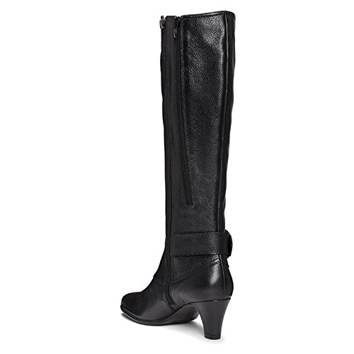 Aerosoles Womens Incredible Closed Toe Knee High, Black Leather, Size 5.5