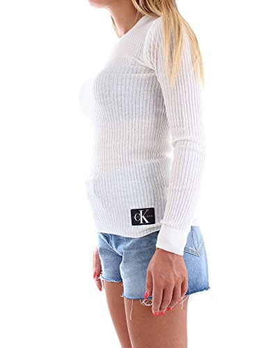 S Klein Calvin J20j207820 Jersey Mujer Crema qnYW0AFW