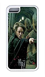 5C Case, iPhone 5C Case Galaxy Pattern Harry Potter And The Deathly Hallows Ending Mcgonagall iPhone 5C Shoockproof White Soft Case Full Body Hybrid Impact Armor Defender Cover protective Case for iPhone 5C
