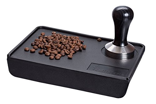 Coffee Tamper Standard for Espresso, Stainless Steel and Handle from solid wood (51mm, Black)