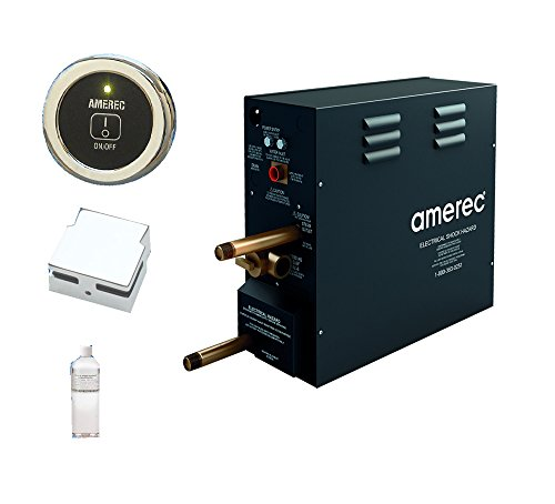 AK 7.5 KW Steam Bath Generator with R30K On/Off Control - Steam Head and Free Aroma Therapy Oil