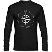 Men's LOTR The Lord Of The Rings Platinum Style Long Sleeve T Shirt-Black
