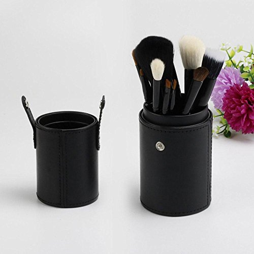 Makeup Brush Cup Holder Pu Leather Portable Make Up Brushes Case