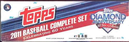 Set 2011 Topps Baseball Card - 2011 Topps Factory Sealed Diamond Anniversary Baseball Card Set Includes Series 1 and 2 Limited Edition Mail-in Set - Complete 660 Baseball Card SET - Celebrating 60 Years