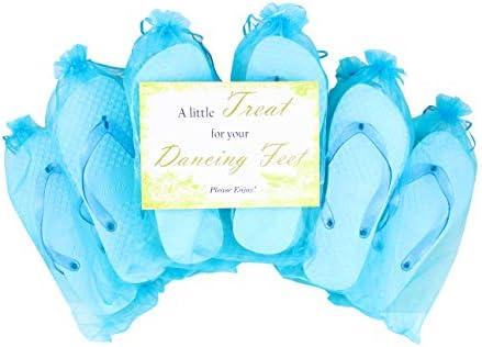 Chanclas Brillantes para Boda y Fiesta Modo Azul Paquete de 10 (10 x 38-39 UE): Amazon.es: Zapatos y complementos