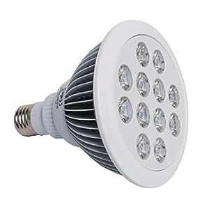 Jambo 12ledes (3Azul y 9Rojo) 15W E27LED para cultivo hidropónico luz LED para plantas