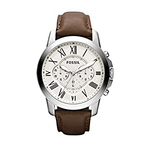 Fossil Chronograph Beige Dial Men's Watch – FS4735