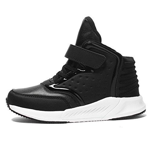 Kuuland Boys High Top Lightweight Fashion Sneaker Kids Casual Strap Walking Shoes(Little/Big Kid)