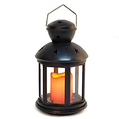 Bright Zeal Vintage Candle Lantern with LED Flickering Flameless Candle - Hanging Candle Lanterns Decorative - Wedding Lanterns Centerpiece Vintage Lanterns Decor Party