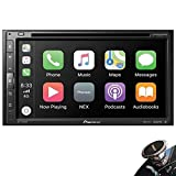 Pioneer AVH-2500NEX in-Dash 2-DIN Touchscreen DVD/MP3 Stereo Receiver with Bluetooth, Apple CarPlay, and Android Auto Compatibility + Magnet Phone Holder