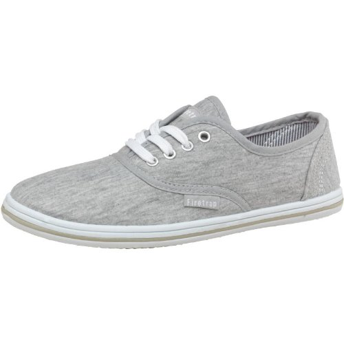 Chiné Arrows Toile Chaussures Fille Gris blanc Firetrap En Chiné Ua0wtAxaq