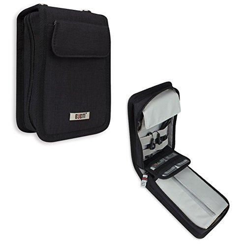 BUBM 3DS Case for Nintendo New 3DS/3DS XL/LL, 3DS, 3DS XL, Travel Carry Case with Adjustable Straps, Black