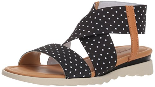 Black Women's Elastic Flexx Extra The Dots Sandal pBxFw