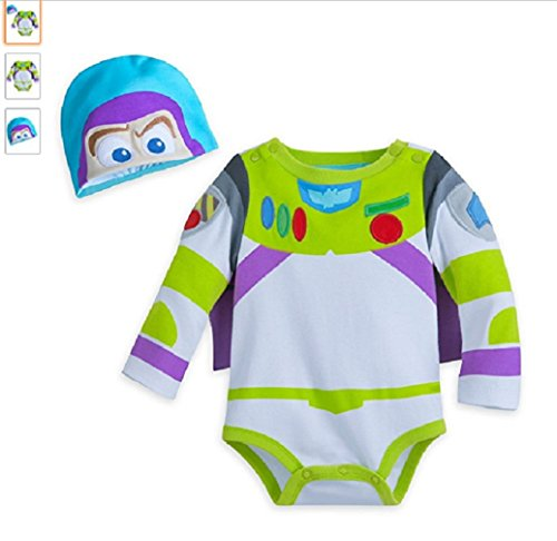 buzz Disney Lightyear Costume Bodysuit for Baby - Size 3-6 Months,Green ()