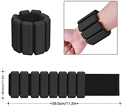 Greenf Wrist Weights Adjustable Ankle Weights Set Ankle Wrist Weight Bracelet Ring Weight-Bearing Fitness Wristband