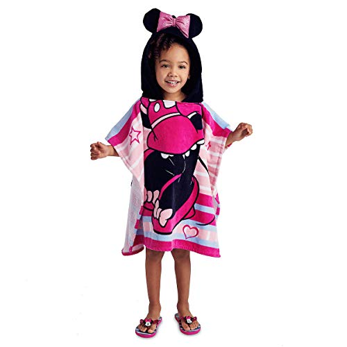 Disney Minnie Mouse Hooded Towel for Girls Pink (Hooded Mouse Towel Disney Minnie)