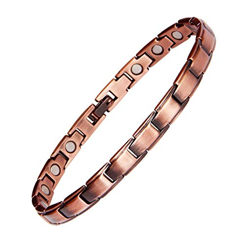 Womens Copper Bracelet Pure Copper Magnetic Bracelets for Arthritis Pain Relief and Carpal Tunnel Migraines Tennis Elbow