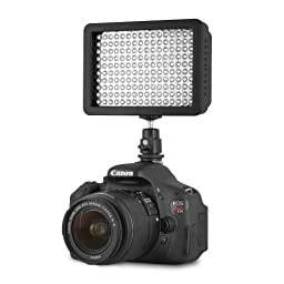 Chromo Inc CI55000020 160 LED CI-160 Dimmable Ultra High Power Panel, Camcorder Video Light for Canon, Nikon, Pentax, Panasonic, Sony, Samsung and Olympus Digital SLR Cameras
