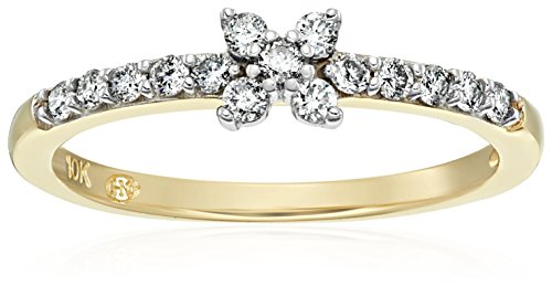 10k Yellow Gold Diamond Promise Ring (1/4cttw, I J Color, I2 I3 Clarity), Size 6