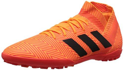 adidas Men's Nemeziz Tango 18.3 Turf Soccer Shoe, Zest/Black/Solar Red, 9 M US (Turf Ball Artificial)