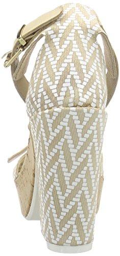 Manas versilia 121L5906VED - Sandalias de vestir de cuero para mujer Beige