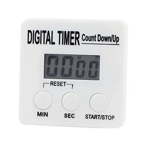Amazon.com: Temporizador de cocina eDealMax digital dígitos grandes fuerte alarma Soporte magnético y soporte retráctil Blanca: Kitchen & Dining