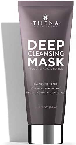 Organic Face Mask With Pure Healing Dead Sea Mud For Women & Men, Best Blackhead Remover, Acne Pore Minimizer, 100% Natural Facial Care Organic Beauty Skin Care Products