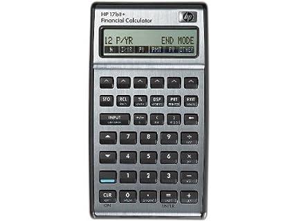 amazon com hp 17bii financial calculator silver electronics rh amazon com hp 17bii+ financial calculator user manual hp 17bii financial calculator owner's manual
