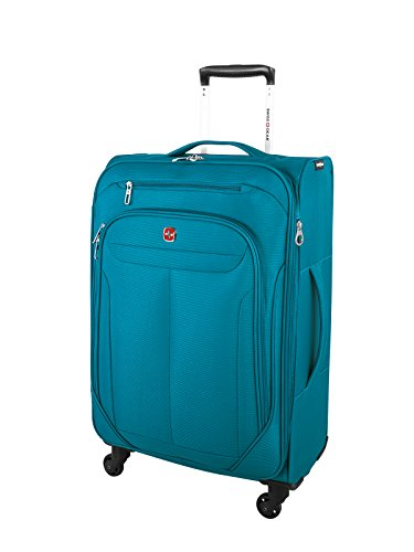 Swiss Gear Marumo Lightweight Expandable Spinner Luggage, 24-Inch, Teal