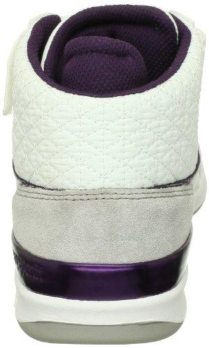 Le Coq Sportif Diamond Lea/Nylon W - Zapatillas de cuero para mujer Blanco (Blanc (White/Plum))