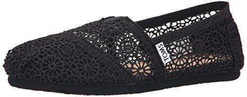 TOMS Morocco Crochet Women's Classics, Black Morocco, 9 B(M) US (Crochet Toms Shoes Womens)